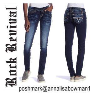 💙Rock Revival Pearl Skinny Fit denim jean size 29